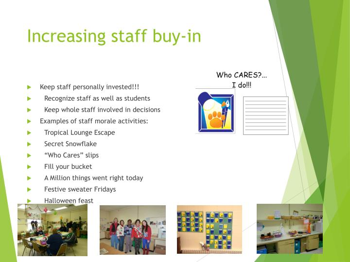 Increasing staff buy-in