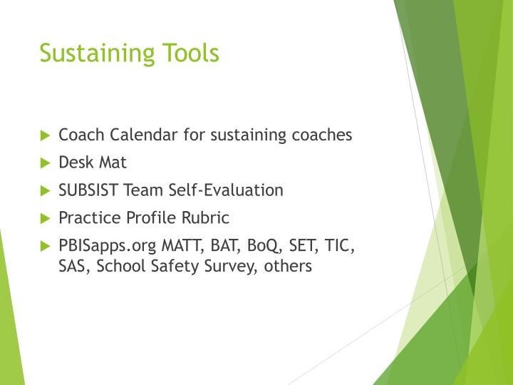 Sustaining Tools