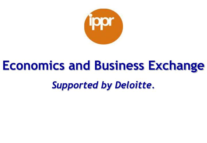 Economics and Business Exchange