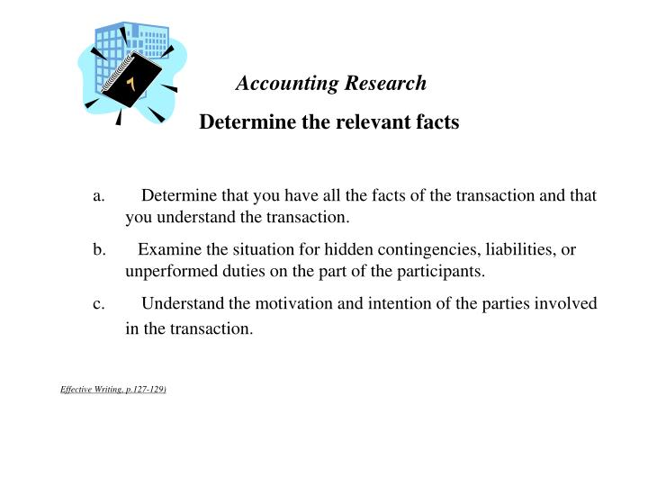 Accounting Research