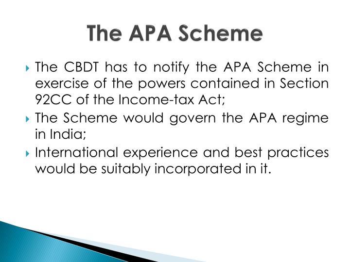 The APA Scheme