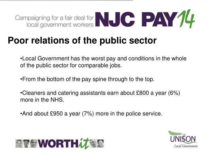 Poor relations of the public sector