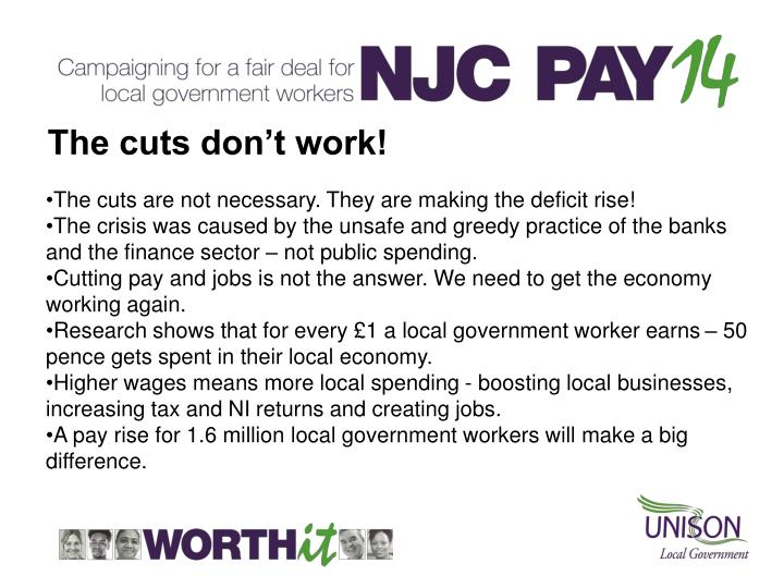 The cuts don't work!