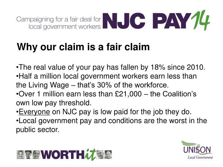 Why our claim is a fair claim