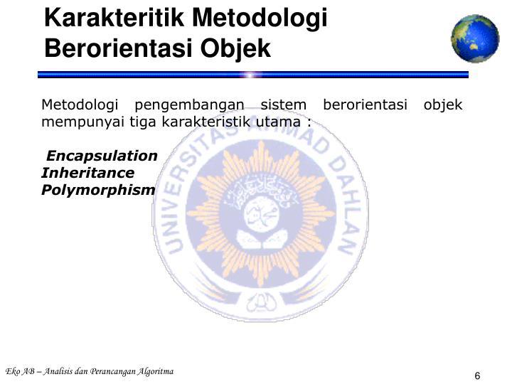 Karakteritik Metodologi Berorientasi Objek