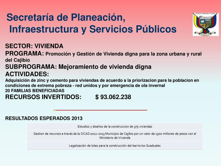 Secretaría de Planeación,