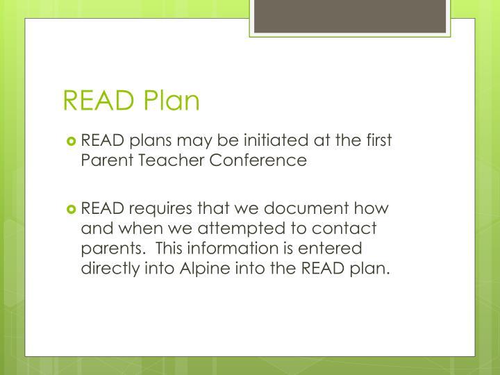 READ Plan