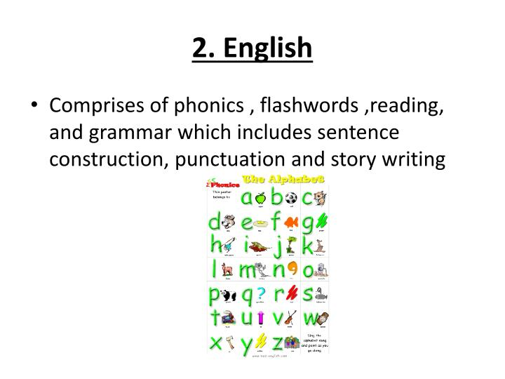 2. English