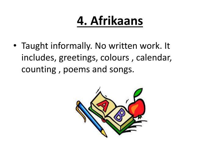 4. Afrikaans