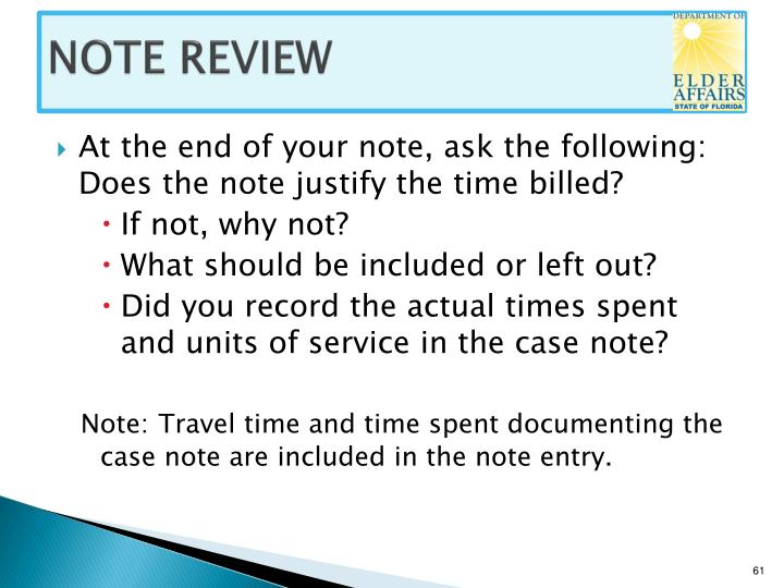NOTE REVIEW