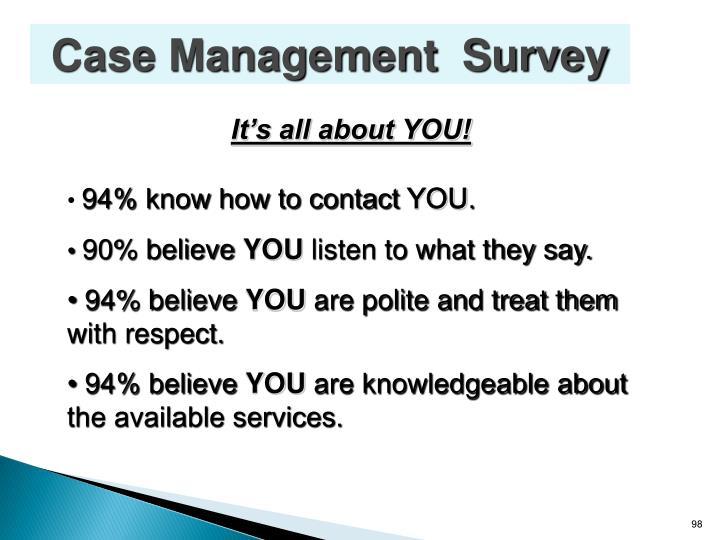 Case Management  Survey