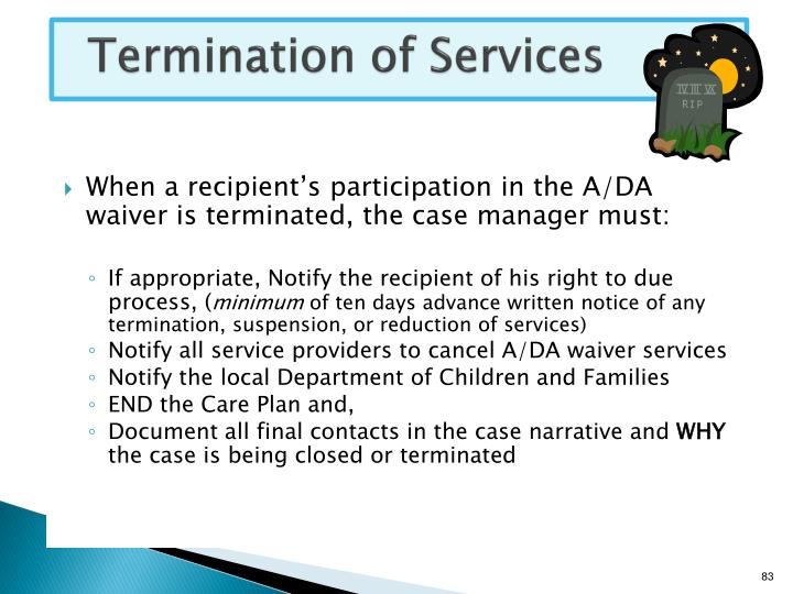 Termination of Services