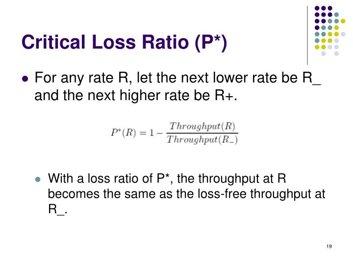 Critical Loss Ratio (P*)