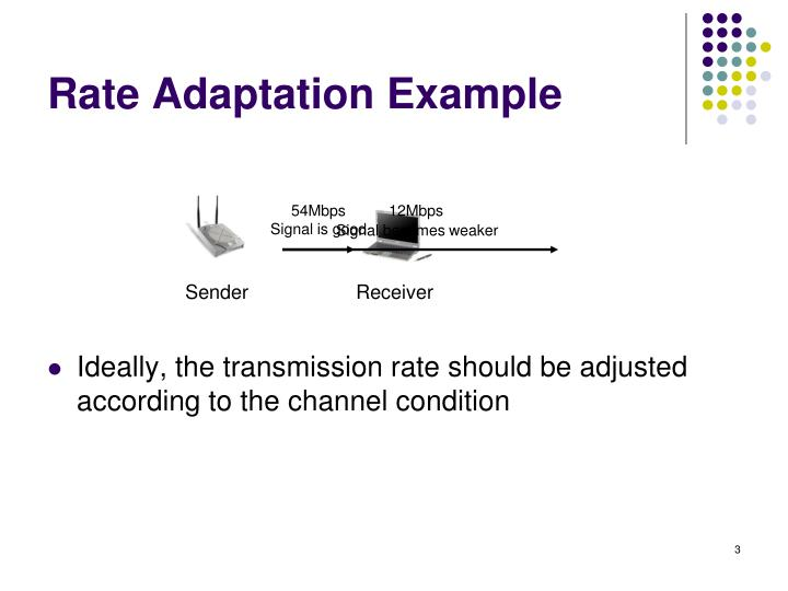 Rate adaptation example