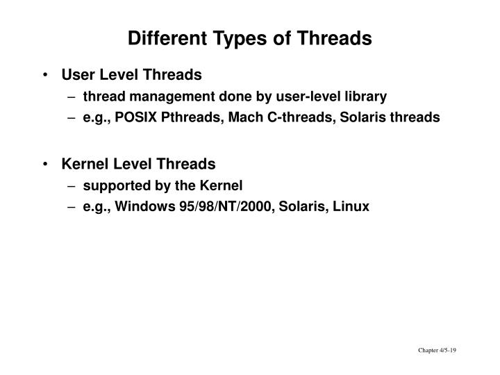 Different Types of Threads