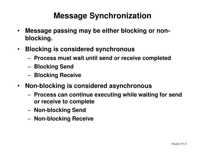 Message Synchronization