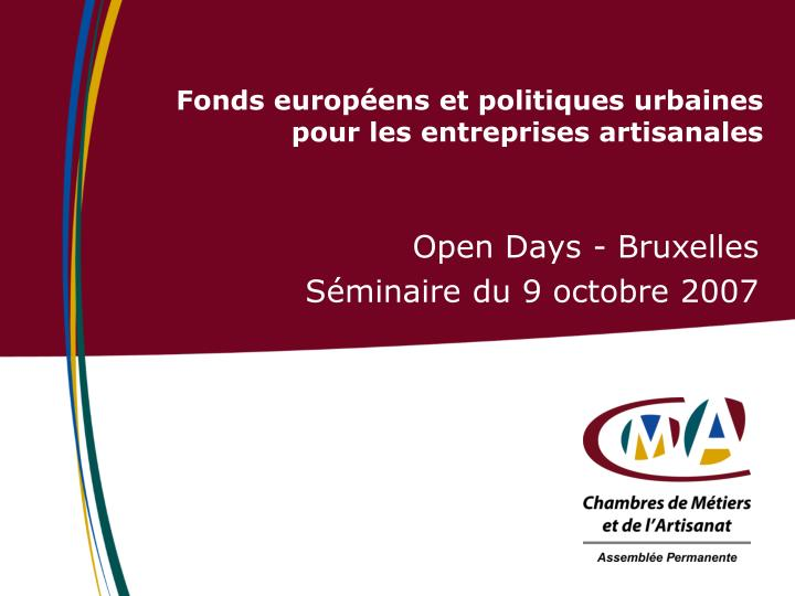 Open Days - Bruxelles