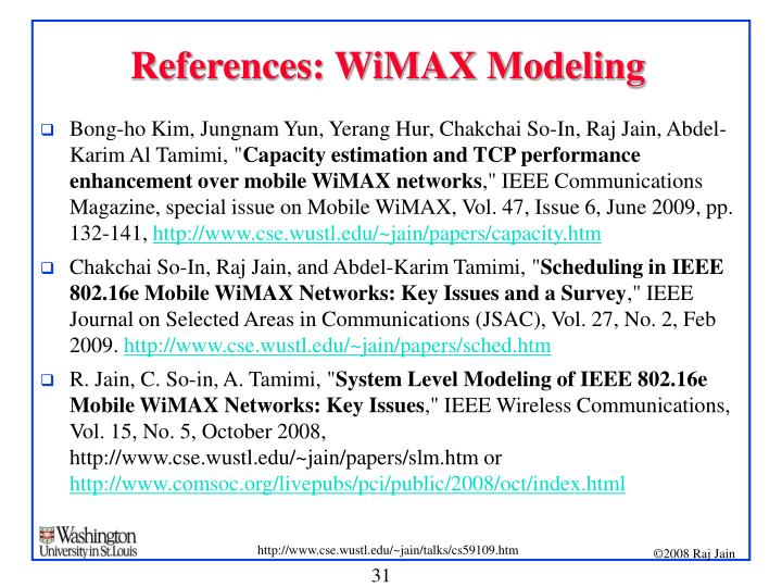 Research papers on wimax
