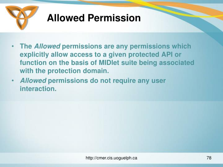 Allowed Permission