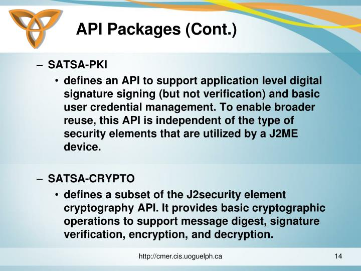 API Packages (Cont.)