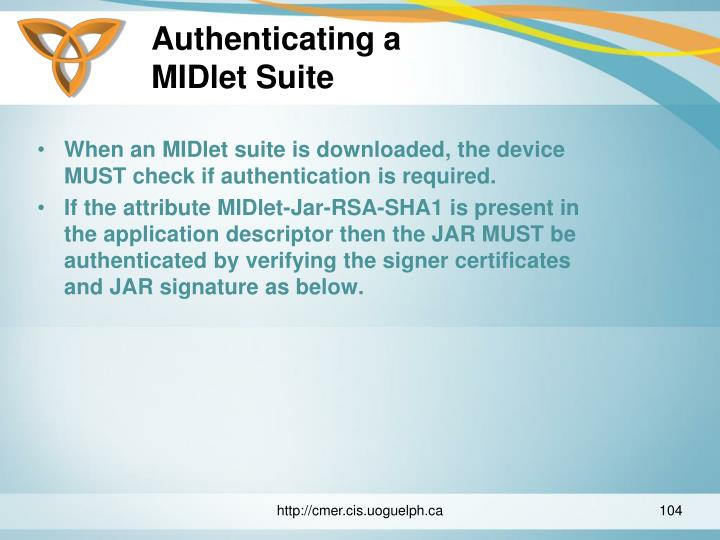 Authenticating a