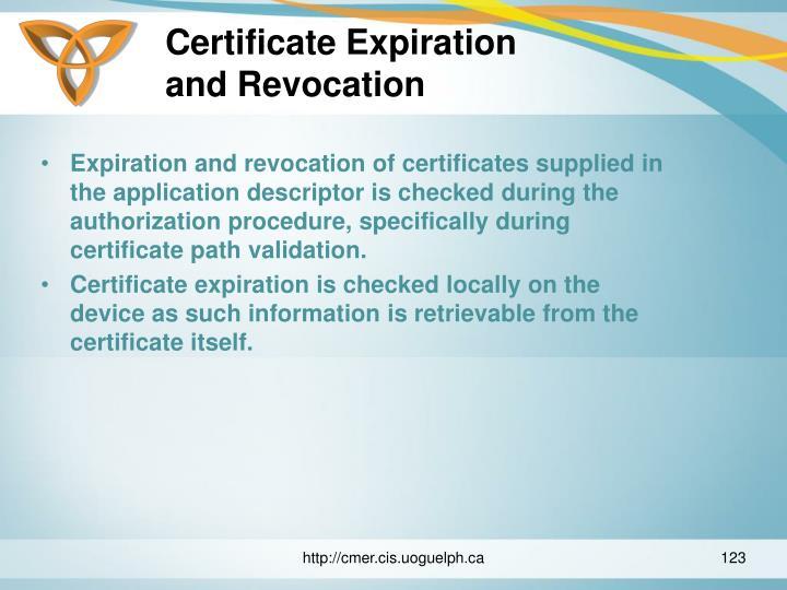 Certificate Expiration
