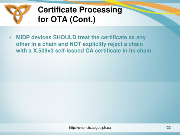 Certificate Processing