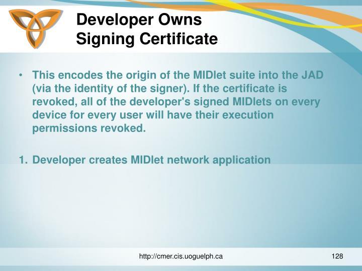Developer Owns