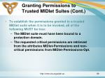 granting permissions to trusted midlet suites cont