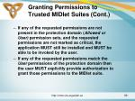 granting permissions to trusted midlet suites cont3