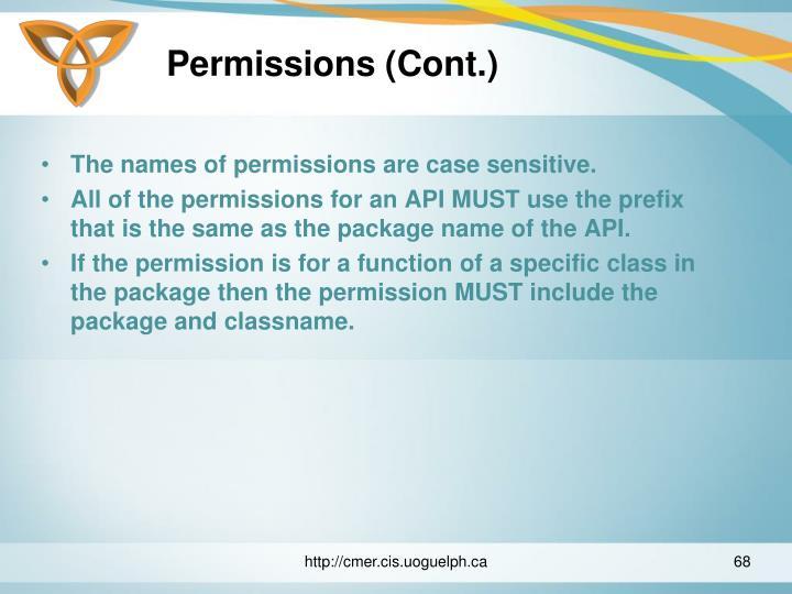 Permissions (Cont.)