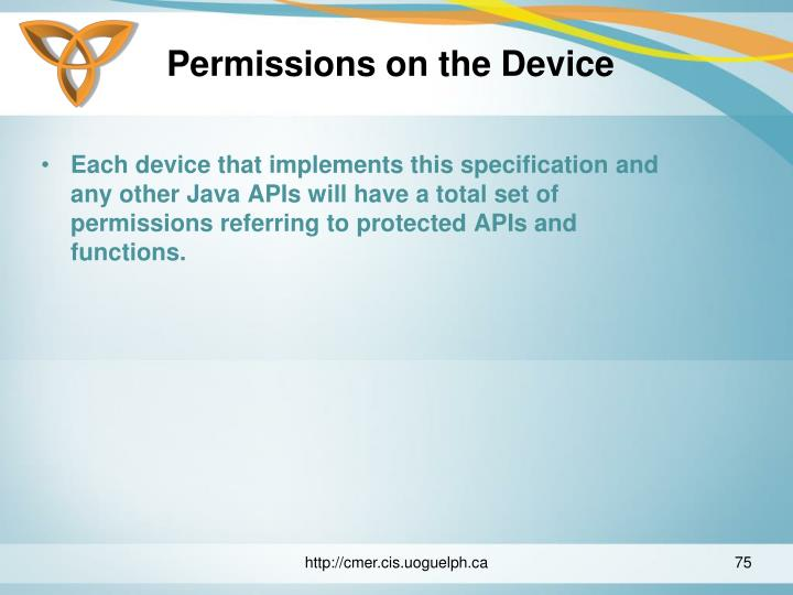 Permissions on the Device