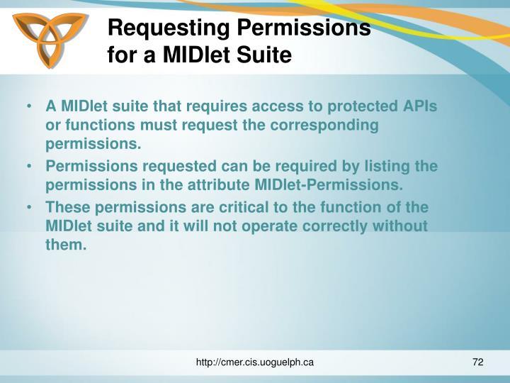 Requesting Permissions