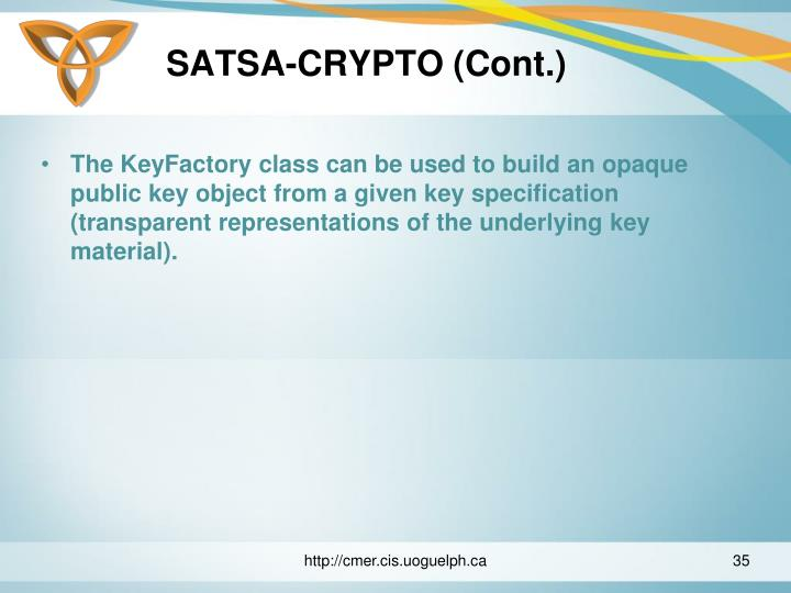 SATSA-CRYPTO (Cont.)