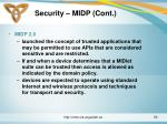 security midp cont