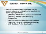 security midp cont1