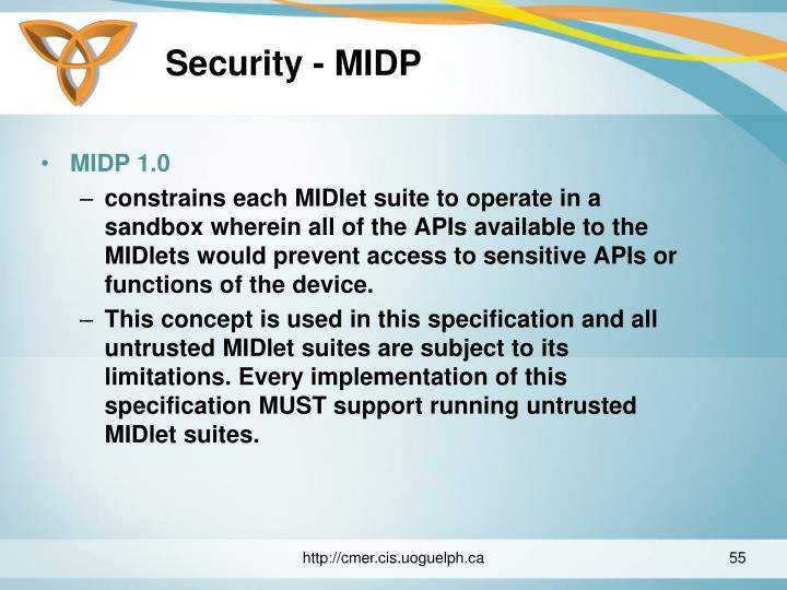 Security - MIDP