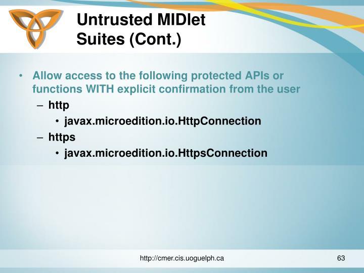 Untrusted MIDlet