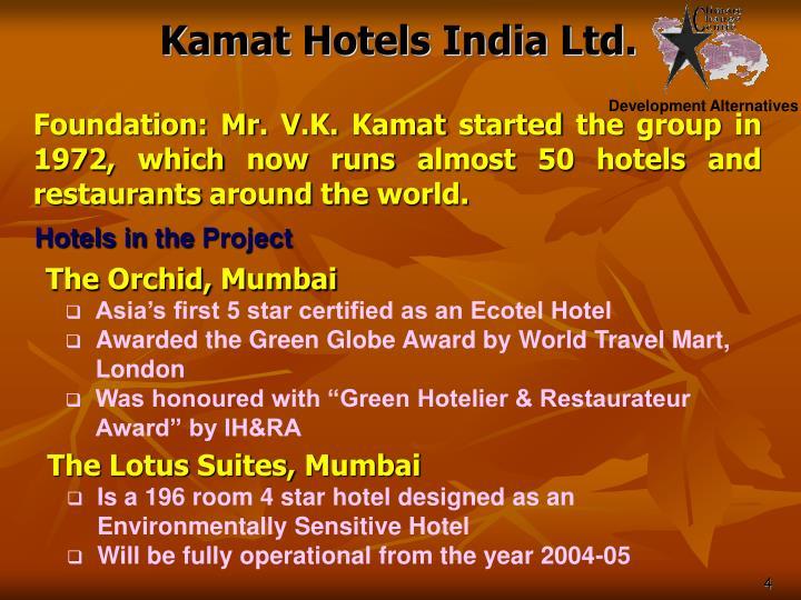 Kamat Hotels India Ltd.