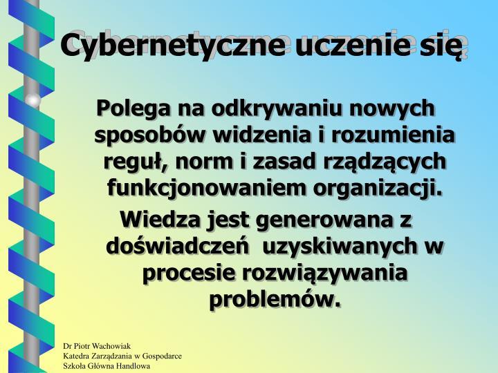 Cybernetyczne uczenie się