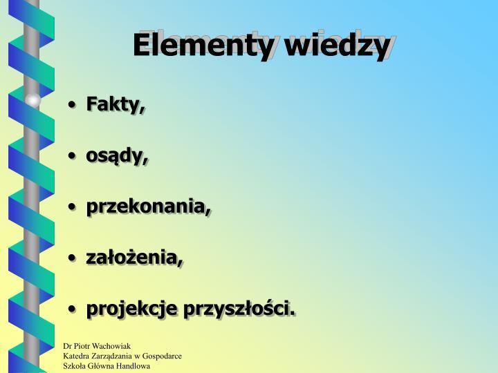 Elementy wiedzy