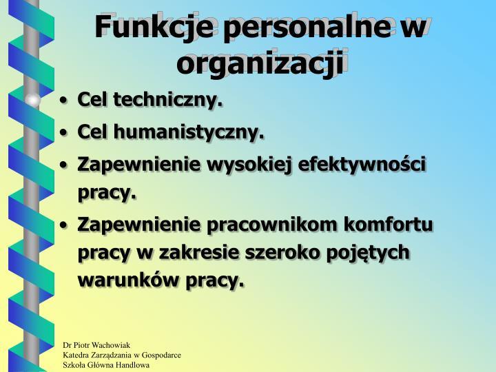 Funkcje personalne w organizacji
