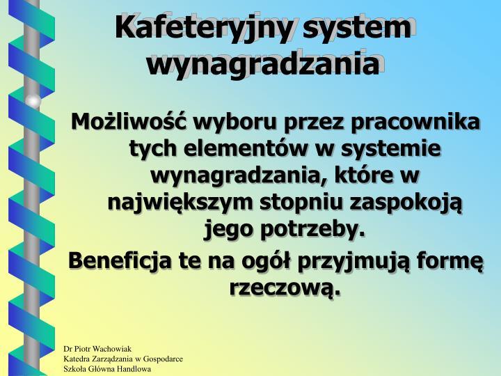 Kafeteryjny system wynagradzania