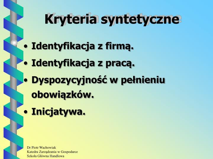 Kryteria syntetyczne