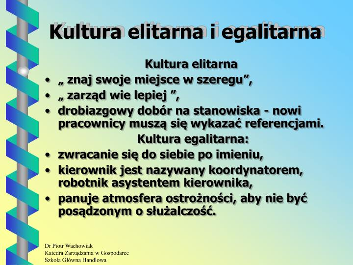 Kultura elitarna i egalitarna