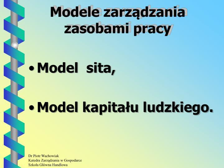 Modele zarządzania zasobami pracy