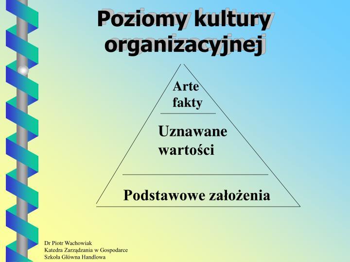 Poziomy kultury organizacyjnej