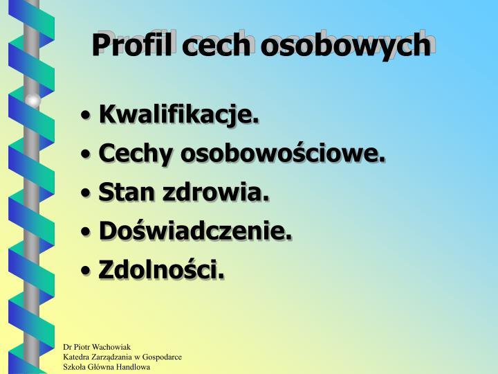 Profil cech osobowych