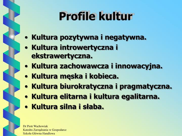 Profile kultur