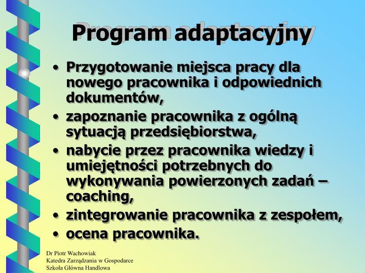 Program adaptacyjny